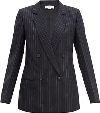 Victoria Beckham Veste en laine rayée à double boutonnage