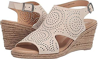 xoxo Womens SUMMERDALE Espadrille Wedge Sandal, Off Off White, 6 M US