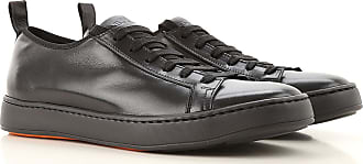 Santoni Sneaker Uomo On Sale in Outlet, Nero, pelle, 2019, 38.5 43 44.5 45 47