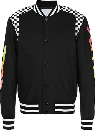 Ports V Cool Summer checkered panel bomber jacket - Black