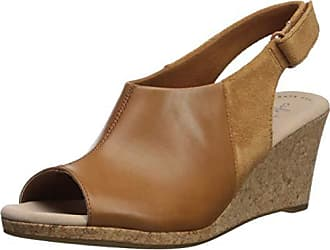 a2cdb1356f792 Delivery: free. Clarks Womens Lafley Jess Wedge Sandal tan Leather/Suede  Combi 120 M US