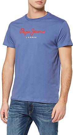 Pepe Jeans London Mens Eggo T-Shirt, Blue (Steel Blue 563), Large