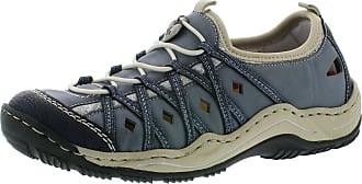 Rieker Womens L0567-14 Low-Top Sneakers, Blue Pazifik Adria Royal Silverflower 14, 4 UK
