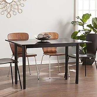 Southern Enterprises Carlow Flip Top Converticle Console Dining Table - Seats 2 to 4 - Satin Black Finish
