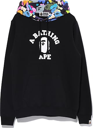 A Bathing Ape Multi Camo College Pullover hoodie