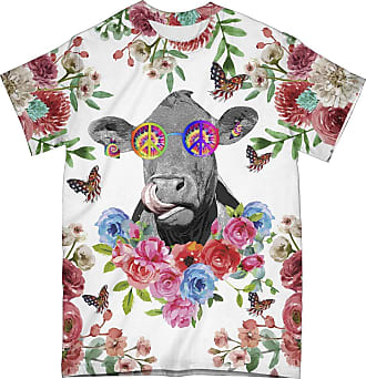 NA Hippie Funny Cow 3D Shirt