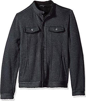 John Varvatos Mens Knit Jean Jacket, Charcoal, Large