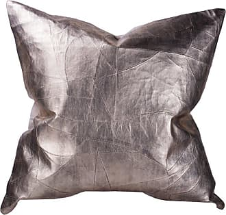 A & B Home Square Stitched Leather Throw Pillow - T42995