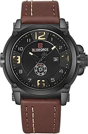 NAVIFORCE Relógio Masculino Naviforce NF9099 Esportivo - Marrom Preto