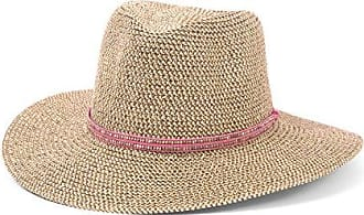 ále by Alessandra Womens Kenzie Toyo Straw Fedora Sunhat Packable & Adjustable, Pink, One Size