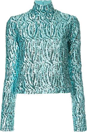 16Arlington Blusa gola alta com paetês - Azul
