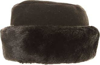 Hawkins Ladies Black Fleece HAT with Faux Fur Brim Trim