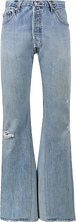 Re/Done high rise wide-leg jeans - Blue