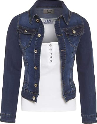 SS7 Womens Stretch Denim Jacket Indigo