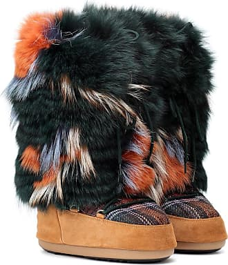 Yves Salomon - Army x Moon Boot fur ankle boots