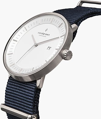 Nordgreen Philosopher - Silver | Navy Blue Nylon - 40mm / Silver