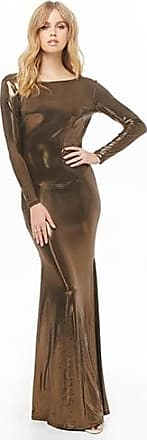 Forever 21 Forever 21 Metallic Liquid Gown Bronze