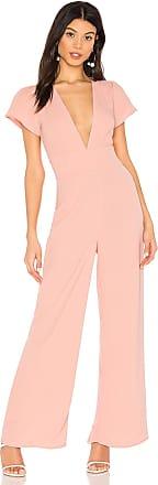 Superdown Penny Deep V Jumpsuit in Pink