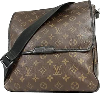 f0995e39d3b8 Louis Vuitton Monogram Macassar Bass 233087 Brown Coated Canvas Messenger  Bag