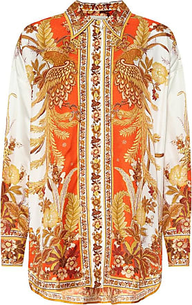Zimmermann Brightside printed silk-twill shirt
