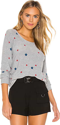 Chaser Cozy Knit Stars Sweater in Gray