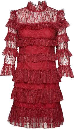 By Malina Carmine Mini Dress Kort Klänning Röd By Malina