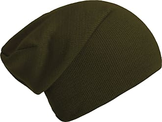 DonDon winter hat slouch beanie warm classical design modern and soft olive