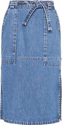 TWENTY FOUR SEVEN Saia Midi Jeans Tira Cintura Twenty Four Seven - azul