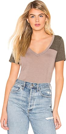 Chaser V Neck Shirttail Football Tee in Taupe