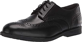 Hush Puppies Mens Shepsky WT Oxford, Black Leather, 14 W US