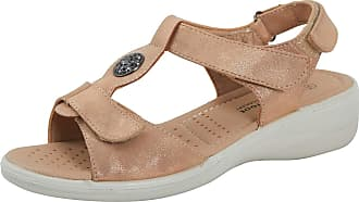 Lora Dora Womens Wide Fitting Comfort Sandals Rose Gold UK 4