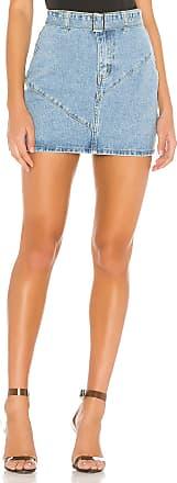 Superdown Kali Denim Mini Skirt in Blue