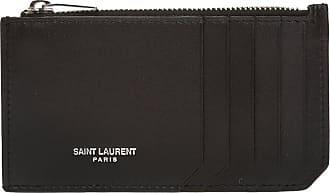 Saint Laurent Logo Card Case Mens Black