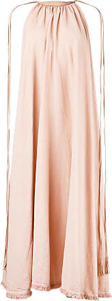 Caravana leather tie halter dress - Pink