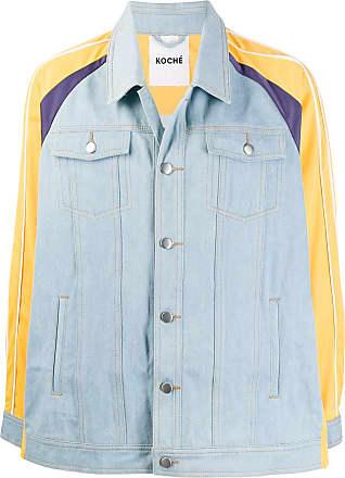 Koché Jaqueta jeans com acabamento contrastante - Azul