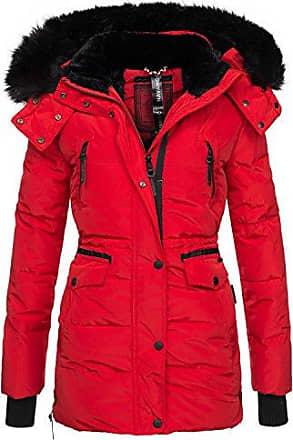 e3605736574cdf Navahoo Damen Winter Jacke Parka Teddy Fell Mantel Winterjacke warm B363  [B363-Rot-