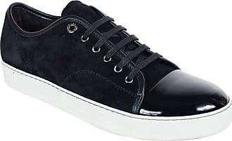 8cbb03828fbf Lanvin Mens Lanvin Black Suede Patent Cap Lace Up Ddb1 Sneakers