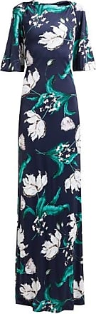 Erdem Ethelene Leighton Floral-print Jersey Dress - Womens - Navy Print