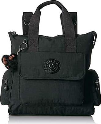 Kipling Revel 2-in-1 Convertible Bag, Wear 2 Ways, Zip Closure, Black Tonal