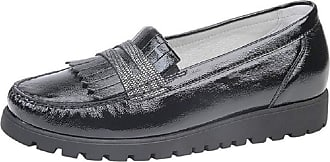 Waldläufer Womens Hegli 549506 302 Fringe Leather Moccasin Shoes (6 UK, Black (Schwarz))
