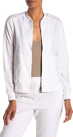 Kenneth Cole Linen Blend Zip Bomber Jacket