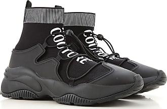 Versace Jeans Couture Sneaker für Herren, Tennisschuh, Turnschuh Günstig im Sale, Schwarz, Polyester, 2017, 42 43 44