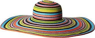 b3b771a7 San Diego Hat Company Womens 8-inch Brim Floppy Stripe Sun Hat, Multi/