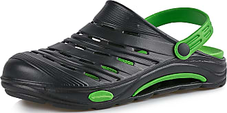 Ladeheid EVA Clogs KL030 (Black/Green, 6.5 UK)