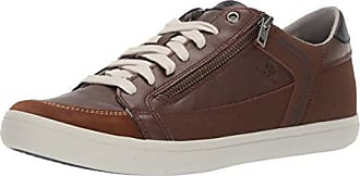 Geox Mens HALVER 3 LACE UP Sneaker with Zip, Brown/Sand 39 Medium EU (6-6.5 US)