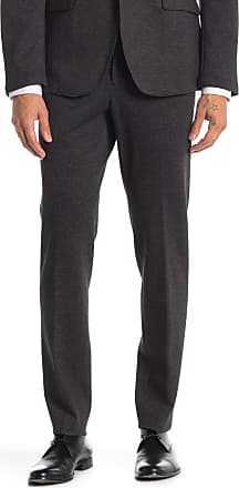 14th & Union Black Textured Knit Extra Trim Fit Suit Separates Trousers