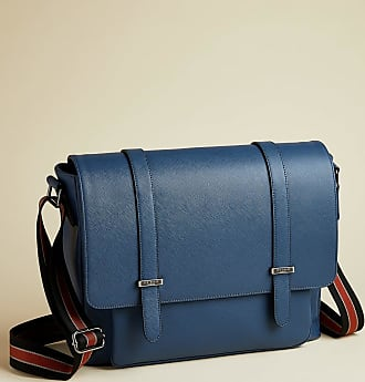 Ted Baker Crossgrain Finish Satchel in Blue ONEFOR, Mens Accessories