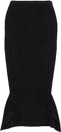 Roland Mouret Roland Mouret Woman Fluted Crochet-knit Skirt Black Size S