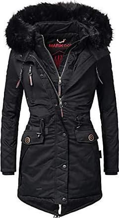 0b2b500b91ece5 Marikoo Damen Winter Mantel Winterparka Rose (vegan hergestellt) Schwarz  Gr. XS