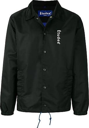 Études Studio logo print shirt jacket - Black